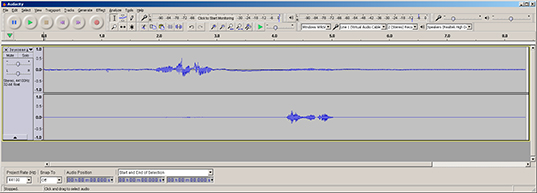 Recorded signal in Audacity